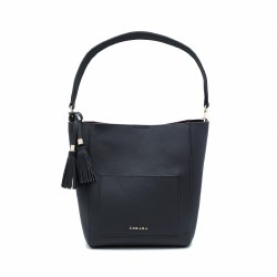 Zohara Open Bucket Bag Navy