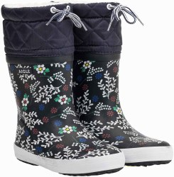 Aigle Giboulee Print Boots 26 Floral Winter