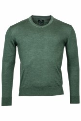 Baileys Merino V Neck Jumper XXL Green