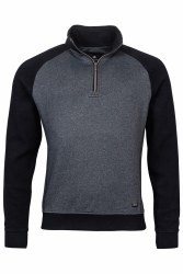 Baileys Raglan Sleeve 1/4Zip Sweatshirt 3XL Navy