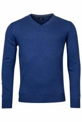 Baileys V-Neck Lambswool Jumper M Blue