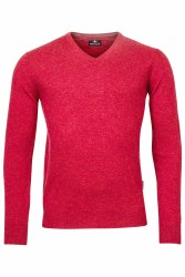 Baileys V-Neck Lambswool Jumper M Brick Red