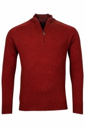 Baileys Lambswool Quarter Zip XXL Rust