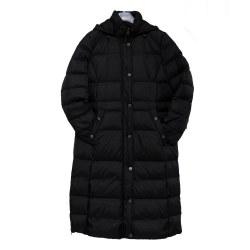 Barbara Lebek Long Down Coat 18 Black