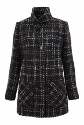 Barbara Lebek Wool Coat 10 Black