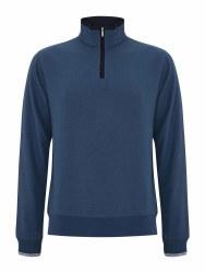 Benetti Leeds 1/4Zip Sweatshirt M Smoke Blue