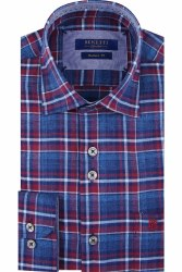 Benetti Zander Check Shirt M Wine