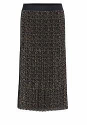 Bianca Belea Pleated Skirt  10 Dark Leopard Print