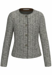 Bianca Sparkle Weave Jacket 14 Grey