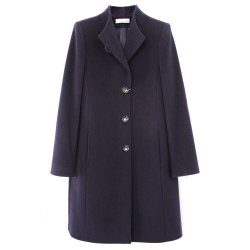 Christina Felix Collarless Coat 10 Navy