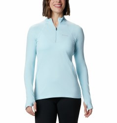 Columbia Midweight Stretch Baselayer Zip Top S Sky Blue