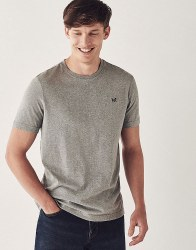 Crew Classic Brushed Cotton Tshirt M Grey Marl