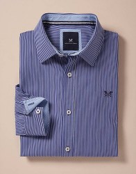 Crew Micro Stripe Shirt M Blue