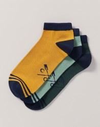CREW MNS009 3pck Socks RedYlGr
