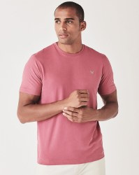 Crew Classic Brushed Cotton Tshirt M Magenta