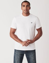 Crew Classic Brushed Cotton Tshirt M White