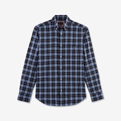Eden Park Check Shirt M Navy