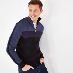 Eden Park Full Zip Knit M Navy