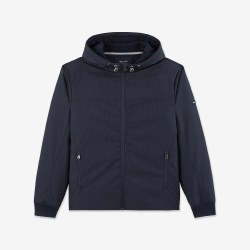 Eden Park Hooded Jacket M Navy