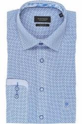 Hatico Print Shirt M Blue