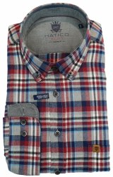 Hatico Brushed Cotton Shirt XL Red Check