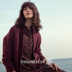 Irelands Eye Corrib Oversize Cardi M Blackberry