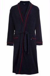 Jockey Bath Robe L Navy