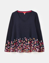 Joules Harbour Light Swing Top 14 Navy Rosy