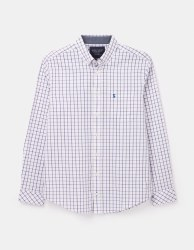 Joules Welford Classic Shirt M White Pink Check