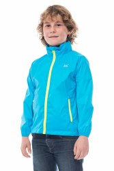 Mac in a Sac Neon Kids Jacket 2-4 years Blue