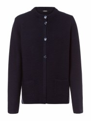 Olsen Ribbed Button Cardigan 12 Navy