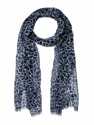 Olsen Water Print Scarf Ink Blue