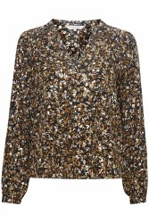 Part Two Elenora Print Blouse 8 Floral Gold