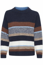 Part Two Ebru Mix Stripe Knit M Blue
