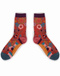 Powder Ankle Socks Scandi Floral
