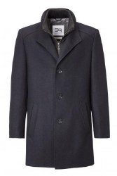 S4 Long Wool Coat 38  Blue