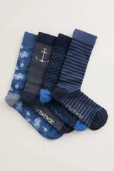 Seasalt Men's Into the Blue Socks Box