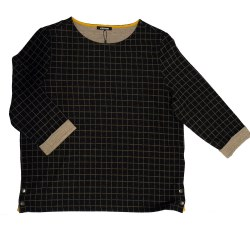 Olsen Grid Jumper Black