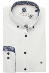 Hatico Oxford Shirt With Contr
