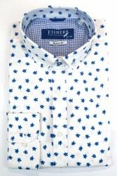 Fishers Print Circle Shirt S Blue