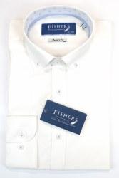 Fishers Plain Textured Shirt L White