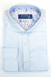 Fishers Plain Textured Shirt S Blue