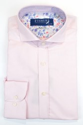 Fishers Plain Textured Shirt S Pink