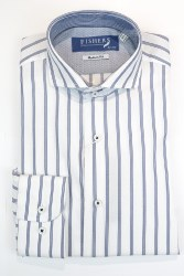 Fishers Stripe Shirt S White Blue