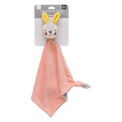 Petit Collage Organic Blankie Bunny