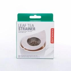 Kikkerland Leaf Tea Strainer Silver