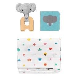 Petit Collage Little Elephant Baby Gift Set