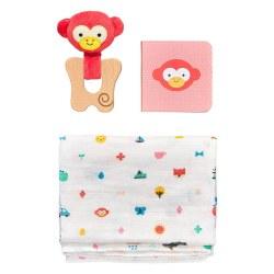 Petit Collage Little Monkey Baby Gift Set