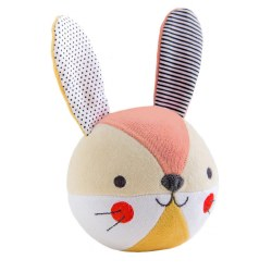 Petit Collage Soft Chime Ball Bunny