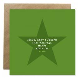 Bold Bunny Jesus, Mary & Joseph Happy Birthday